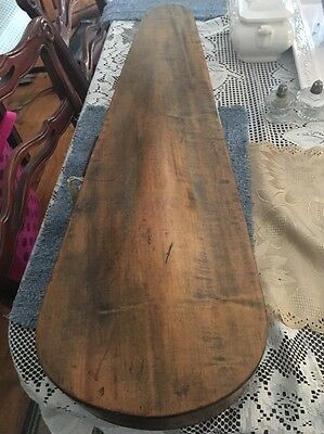 "ANTIQUE WOOD VIOLIN CASE G&B Original 31.25"" Long"