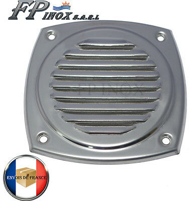 Grille inox 125x125mm Grille aération