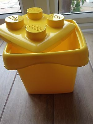 Lego container storage tub - yellow cube