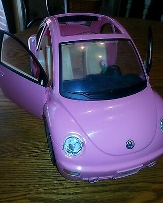 Barbie VW Volkswagen Beetle Love Bug Pink Car 2000 Mattel