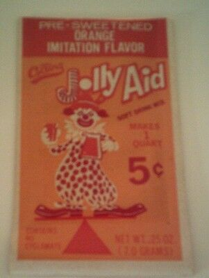 Vintage JOLLY AID SOFT DRINK MIX Unopened Old Store Stock 1960's