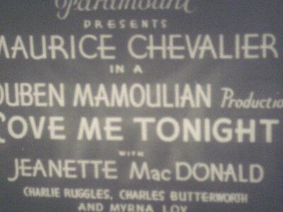 LOVE ME TONIGHT - 16mm feature film B&W 1932 Maurice Chevalier Classic MUSICAL