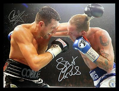 *New* Carl Froch And George Groves Dual Hand Signed 12x16 Boxing Photograph