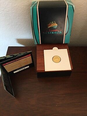 RARE 2006 Discover Australia Gold Proof Coin 1/10 Oz $15 Crocodile W Box & COA
