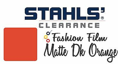 "15"" x 11 Yards - Stahls' Fashion-FILM Heat Transfer Vinyl HTV - Matte Dk Orange"