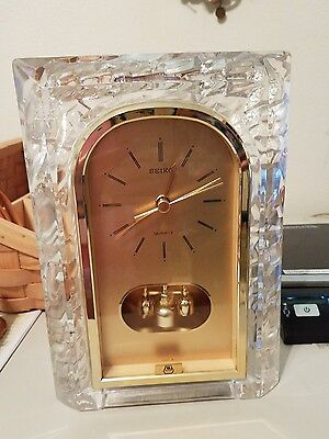 Vintage Maytag Advertising Desk Clock (Employee Award?) Nice Works Seiko