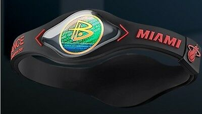 Braccialetto Power Balance-Basket Nba-Miami Heat-Whiteside-Dragic-Wade-S/m/l
