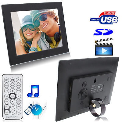 S-Pf-0131B_Sun 8012B Black, 8 Inch Digital Picture Frame With Holder & Remote Co