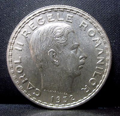 1932 Romania 100 Lei ✪ Au Almost Uncirculated ✪ L@@k Now 100L Km-52 ◢Trusted◣