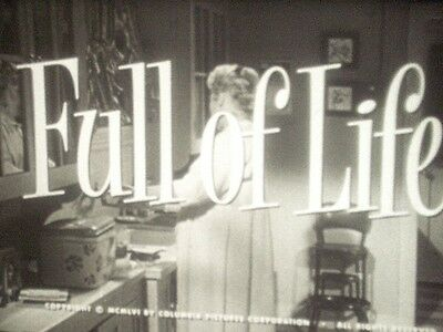FULL OF LIFE - 16mm feature film B&W 1956 Judy Holliday, Richard Conte