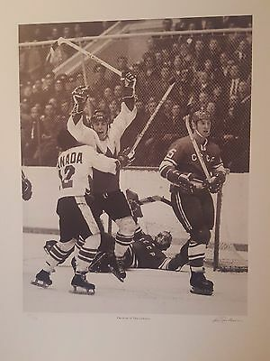 Frank Lennon The Goal of the Century Lihtograph  Henderson Autographed /1972