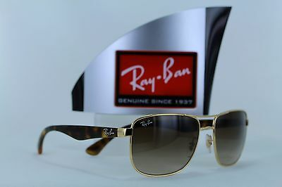 ccce306d51 RAY-BAN SUNGLASSES 3533 001 13 Gold Tortoise Brown Gradient ...