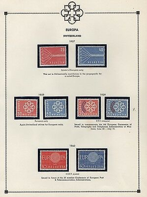 Europa CEPT 1954 - 76 Collection Various Countries CV$280.185 Stamps MNH