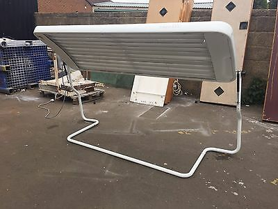 10t Solana canopy tanning sunbed white 100watt  tel mess for del £ most uk 10358