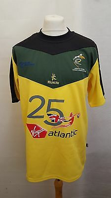 Jamaica Home Rugby League Shirt 2010 - 2011 Kukri L Large Yellow