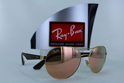 cb0e79339e RAY BAN RB3536 112 2Y Gold Aviator Eyewear w  Mirrored Copper Lenses ...