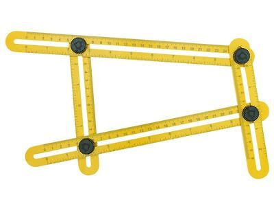 General Angle-Izer Template Tool Measuring Instrument Multi Angle Ruler Yellow