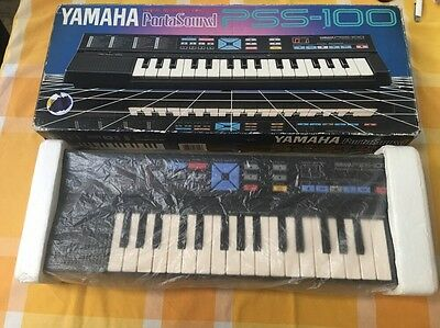 Vintage Yamaha PSS-100 keyboard small portable recorder in box