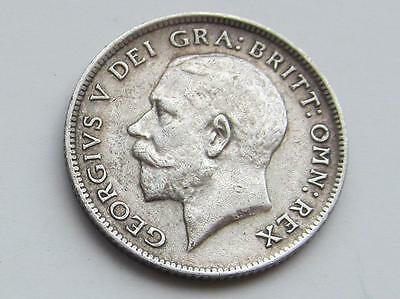 George V silver Sixpence 1919 - Good collectable coin