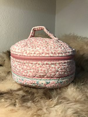 Vintage Vera Bradley Indiana Train Case - Retired Pink Print
