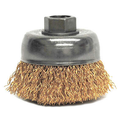 WEILER Crimped Wire Cup Brush,3 In.,0.020 In., 93809