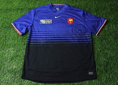 FRANCE NATIONAL TEAM rugby SHIRT JERSEY NIKE ORIGINAL SIZE XL WORLD CUP 2011
