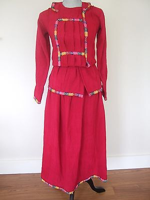 Vtg Peruvian woman's folk style outfit – hand-woven boho ethnic