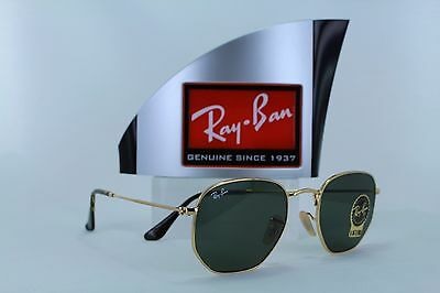 Ray-Ban Hexagonal RB3548N 001 Gold Green Classic G-15 Sunglasses 51mm Non a38ad0ad5dab