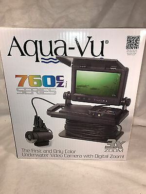 "Aqua-Vu 760czi Camera IR Lighting 7"" Color 3X Zoom 100' Cable XD Cam AV760cz-i"