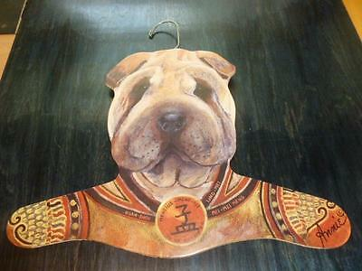 Stupell Shar Pei Dog Wood Clothes Hanger by Annie