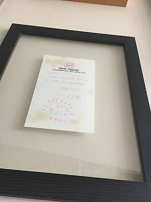 KEITH HARING Drawing on Paper Framed - No Coa