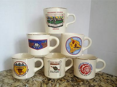 Boy Scouts Order of The Arrow Mugs-Set of 6 Mugs-BSA Collection