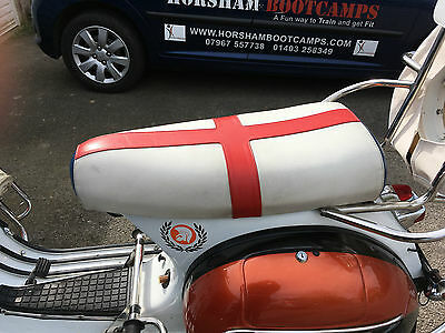 Vespa PX Seat, used but in great condition. Has lock fitted but no key.