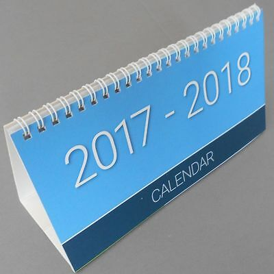 2017 / 2018 academic Month To View Spiral  Desk Top Calendar