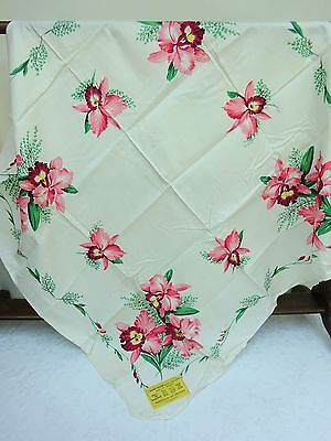 Vintage Daneshaw Tablecloth Unused Fabric Cloth 30's 40's Floral Design