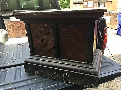 "C1880 pine country store stand pedestal Original varnish 25"" h x 30"" x 20.5"""