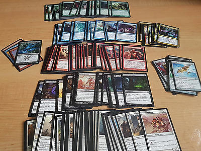190 Magic: The Gathering (MTG) Card Lot - COMMON/UNCOMMON cards - M/NM CONDITION