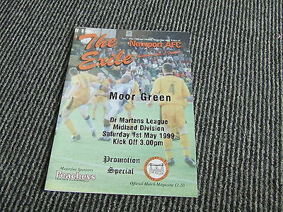 Newport Afc V Moor Green 1998-9 Promotion Special Last Game As Afc