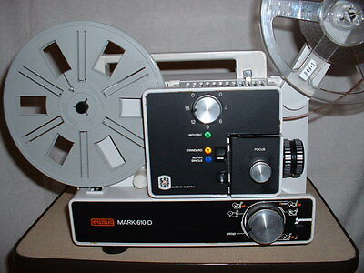 SUPER 8 NORMAL 8 PROJEKTOR MULTIFORMAT EUMIG 610 D ! TOP in OVP !! NEUE LAMPE !!