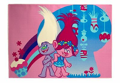 Dream Works Trolls Girls children's carpets rugs floor mat 95cmx133cm pink