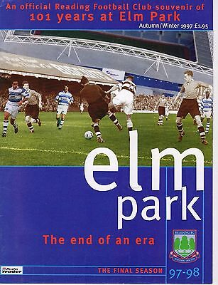 Reading Football Club Elm Park the end of an era Final season 1997-98