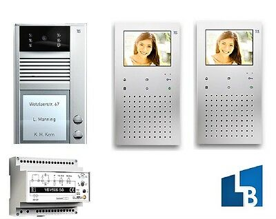 TCS PVC1320-0010 Farb Video Türsprechanlage Video Sprechanlage 2WE 2 Familien
