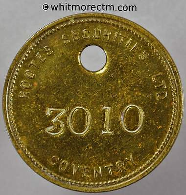 Tool / Pay check token Coventry 33mm Rootes Securities Ltd