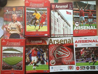 Arsenal Home Programmes 2009-2001 to 2013-2014 MINT or VGC