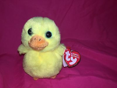 """New Ty Basket Beanies Daffodil 4"""" adorable blue eyes"""