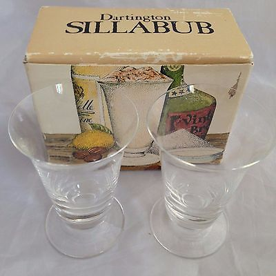 DARTINGTON GLASS Two SILLABUB Glasses FT246 - Frank Thrower (boxed)