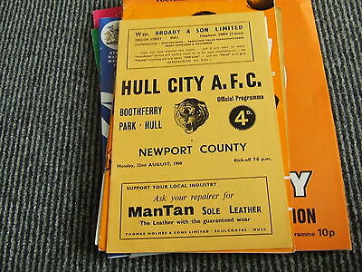 Hull City V Newport County 1960-1