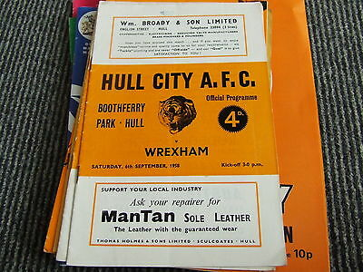 Hull City V Wrexham 1958-9