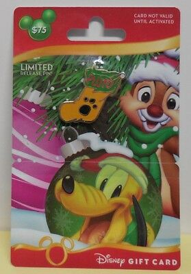 Disney Pin Disney Gift Card Promotion Pin 2012 Stockings Pluto Pin