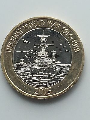 2015 £2 coin first world war very rare two pound UNCIRCULATED MINT ERROR COIN